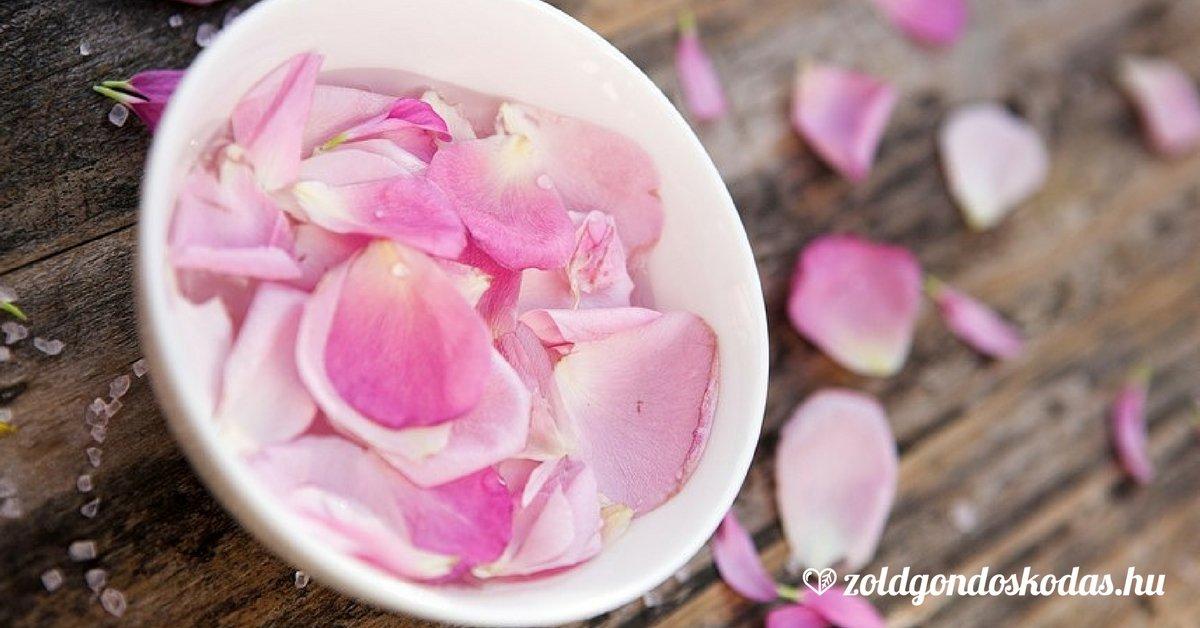 Rózsavíz hatása, használata bőrre és hajra