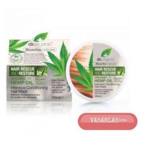 Dr. Organic hajnövekedést serkentő hajpakolás kókuszolajjal vásárlás