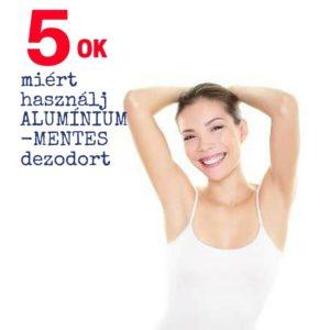 Miért válassz alumínium-mentes, vegyszermentes természetes dezodort?