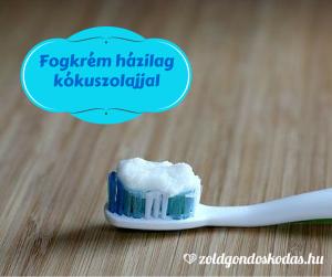 Kozmetikum házilag- fogkrém kókuszolajjal és szódabikarbónával