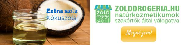 Extra szűz kókuszolaj a Zölddrogériából