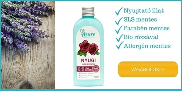 Azure SLS mentes tusfürdő bio rózsa bio levendula