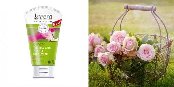Lavera rózsás hajpakolás száraz és töredezett hajra