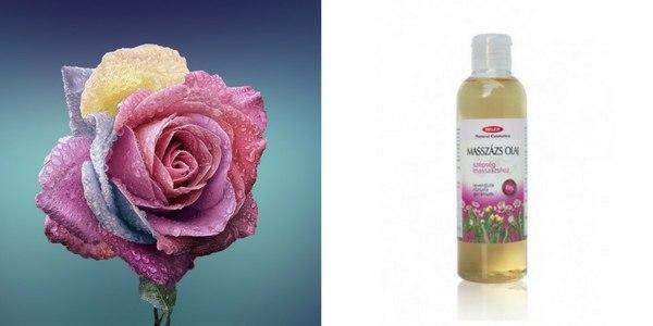 Rózsás gerániumos masszászolaj kőolajszármazékok nélkül