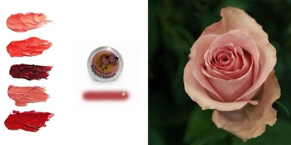 Rózsaszín natúr shea vaja ajakbalzsam
