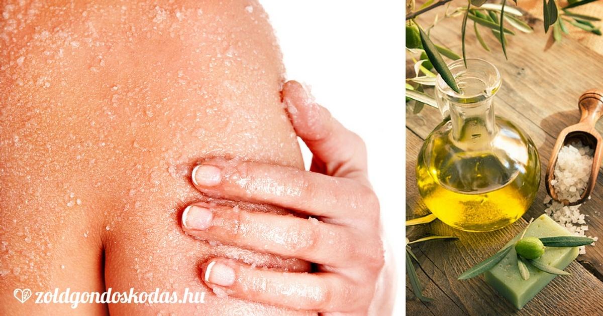 A legjobb testradír házilag száraz, vízhiányos bőrre, olívaolajjal