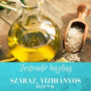Legjobb testradír házilag száraz bőrre olívaolajjal