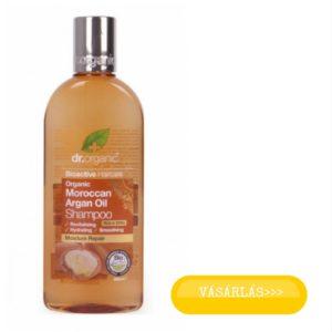 Dr organic argán olaj sampon száraz vékonyszálú hajra