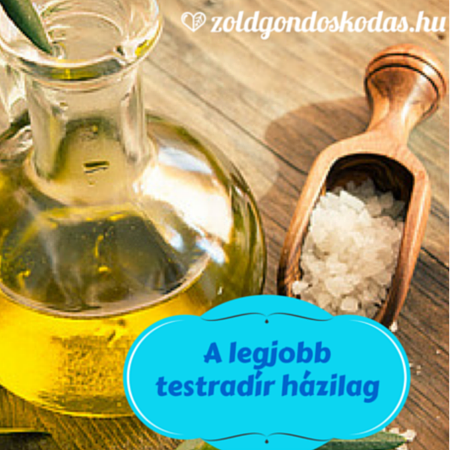 Házi kozmetikum: olívaolajos testradír