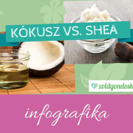 Shea vaj vagy kókuszolaj: infografika a Zöldgondoskodástól