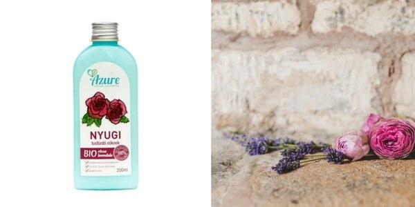 SLS mentes bio levendula, bio rózsa tusfürdő a száraz bőr ellen