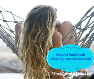 Strand hullám hajformázó kókuszolajjal házilag