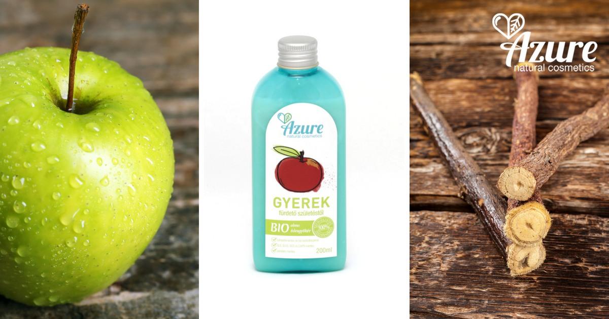 Azure almás natúr baba fürdető olívaolajjal és bio édesgyökérrel