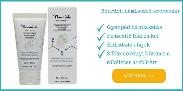 Nourish natúr, bio hámlasztó arcmaszk fodros kel