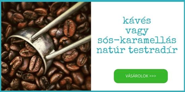 Cocoon kávés vagy sóskaramellás natúr és természetes testradír vásárlás parabén nélkül