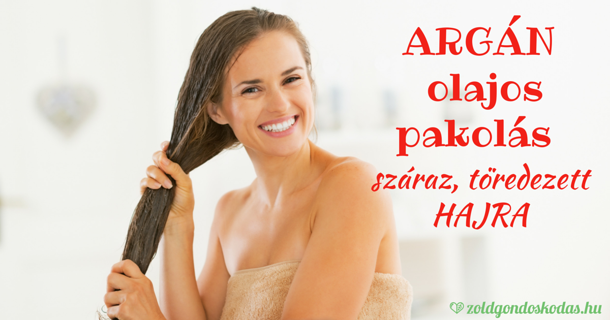 Argán olajos hajpakolás száraz, töredezett hajra