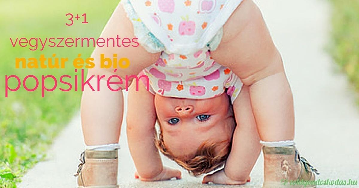 Vegyszermentes bio popsikrém babáknak pelenkakiütés ellen