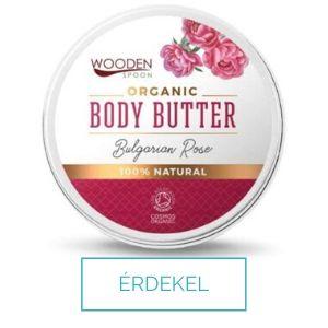 Wooden Spoon bio testvaj bolgár rózsaolajjal és csipkebogyó olajjal