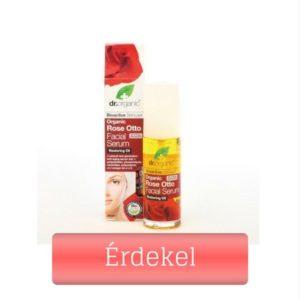 Dr Organic rózsa szérum kevert bőrre csipkebogyó olajjal