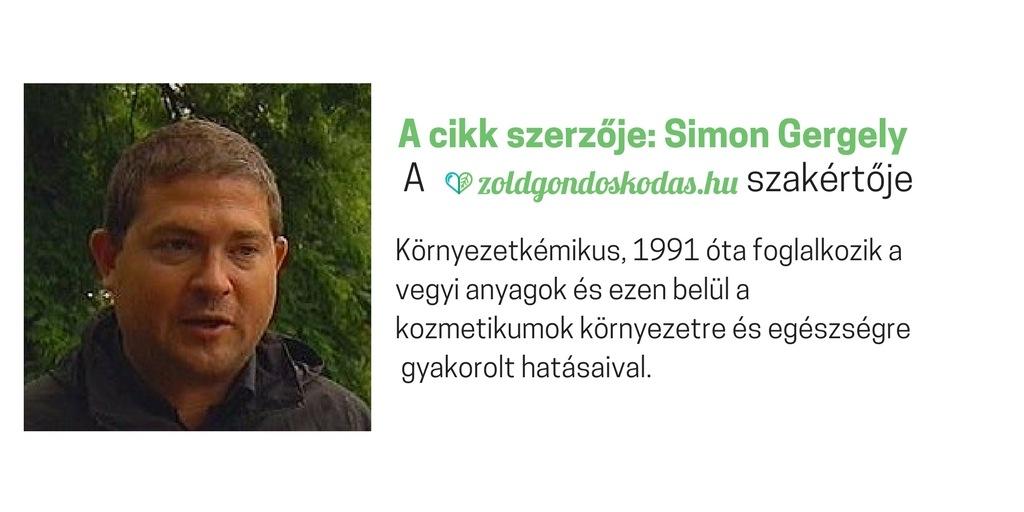 Szerző: Simon Gergely környezetkémikus