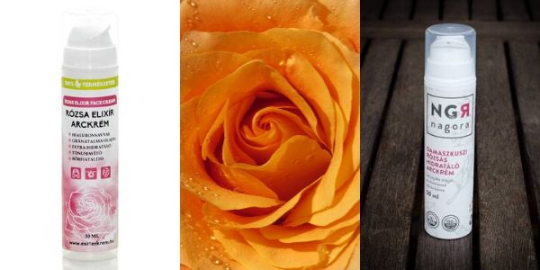 Rózsás natúr arckrém parabén nélkül vízhányos bőrre