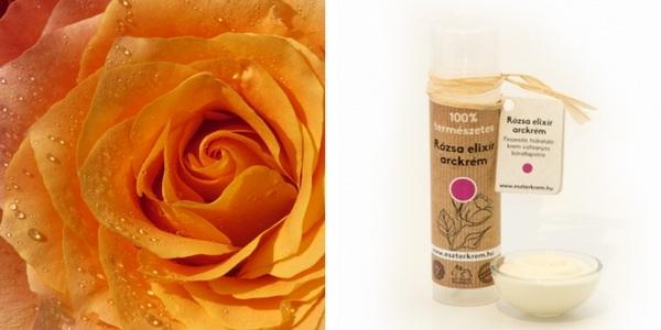Rózsás natúr arckrém parabén nélkül vízhiányos és száraz bőrre