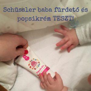 Schüssler sls mentes természetes babafürdető és shea vajas popsikrém teszt