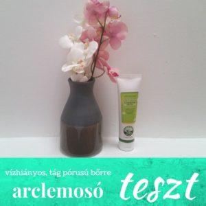 Vízhiányos, tág pórusú bőrre bio arclemosó tej teszt
