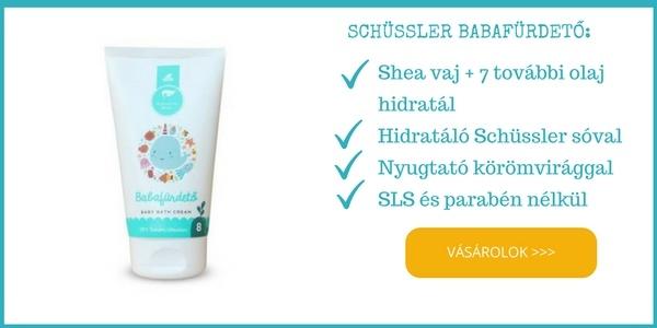 Schüssler természetes, sls mentes baba fürdető shea vajjal