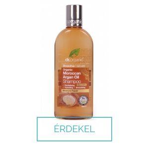 Dr Organic argán olajos tápláló hajsampon