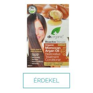 Dr Organic argán olajos hajpakolás száraz, károsodott, töredezett hajra