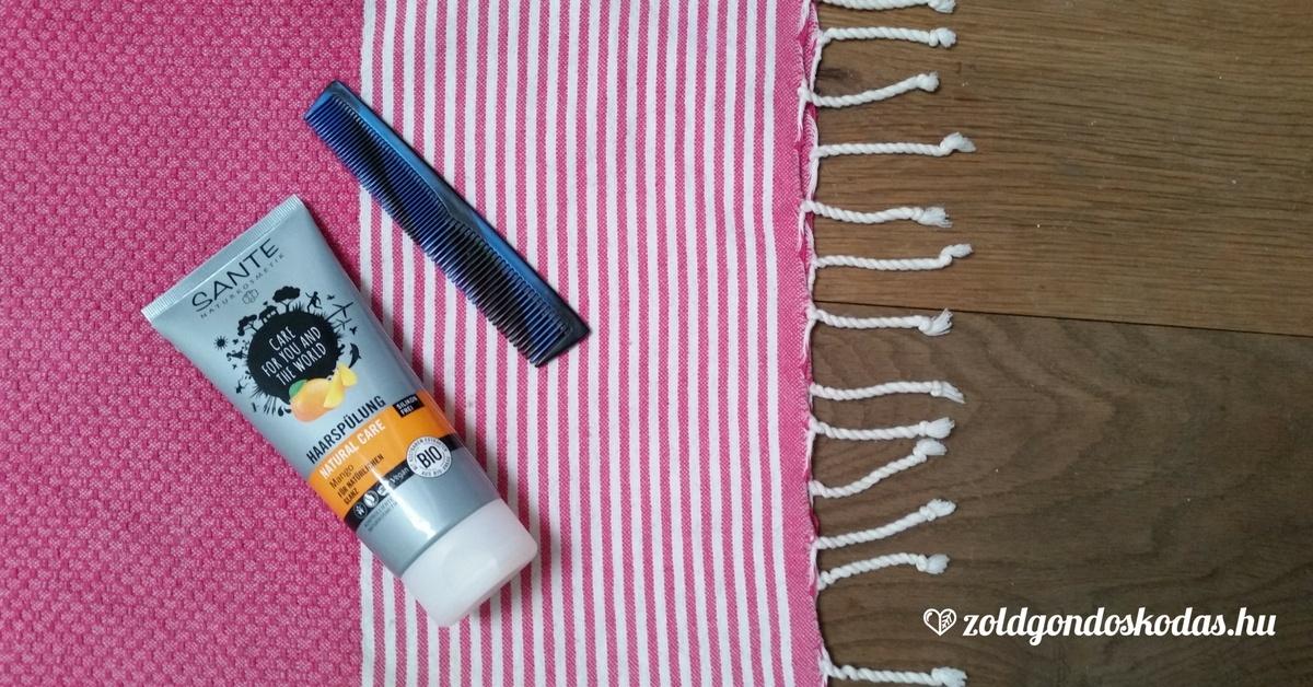Sante natúr hajbalzsam száraz hajra termékteszt