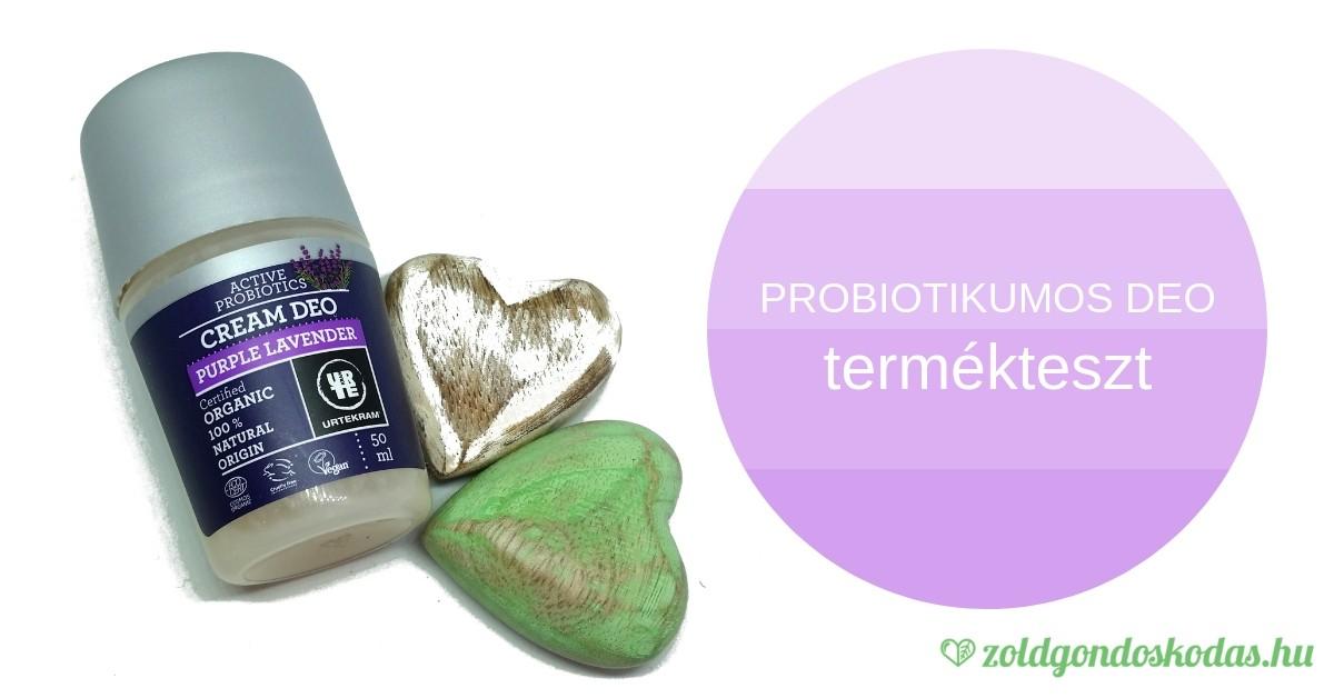 Probiotikumos, levendulás dezodor teszt- alumíinium nélkül