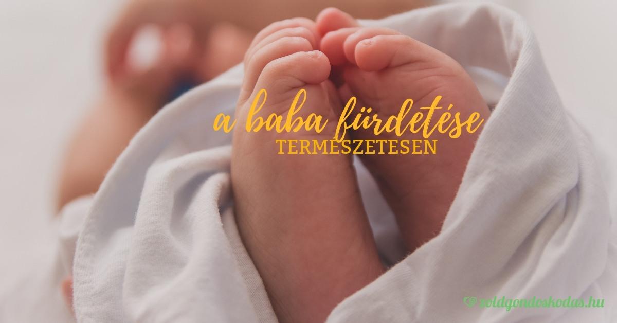 A baba és az újszülött fürdetése