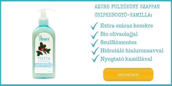 Azure olajos folyékony szappan hialuronsavval extra száraz kézre
