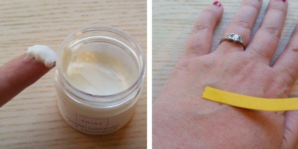 Soins natúr kézkrém extra száraz bőrre állaga, ragacsosság felkenés után