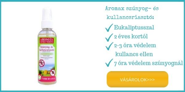 Aromax természetes kullancs és szúnyog riasztó 2 éves kortól