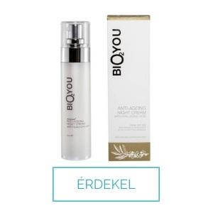 Bio2 you legjobb éjszakai arckrém kollagénnel és hialuronsavval