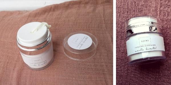 Soins ránctalanító bomba teszt, éjszakai arckrém csomagolása