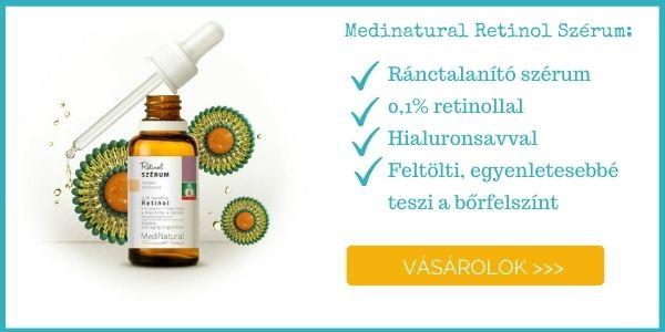 Medinatural retinol szérum ránctalanító, anti-aging