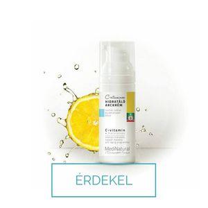 Medinatural C-vitamin hidratáló krém száraz bőrre, pigmentált bőrre, öregségi foltokra